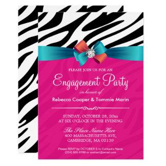 Verlobungs-Party - heißes 12,7 X 17,8 Cm Einladungskarte