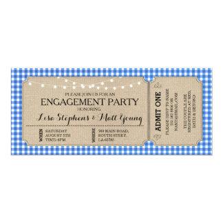 Verlobungs-Party-Karten-blaue 10,2 X 23,5 Cm Einladungskarte