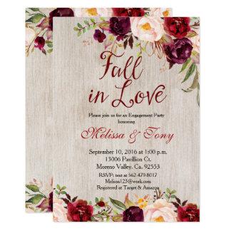 Verlobungs-Party-laden rustikaler Duschen-Fall ein 12,7 X 17,8 Cm Einladungskarte