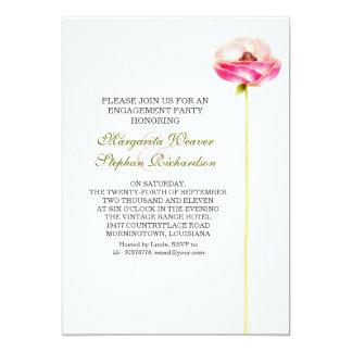 Verlobungs-Partyrosa-Blumeneinladungen 12,7 X 17,8 Cm Einladungskarte
