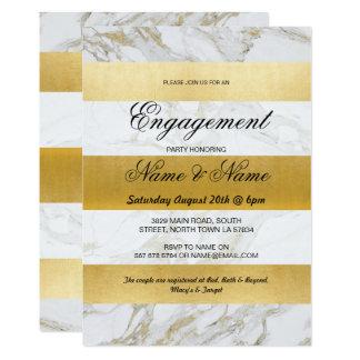 Verlobungs-Streifen-laden weiße Karte