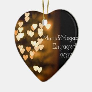Verlobungs-Verzierung Keramik Herz-Ornament
