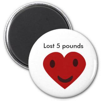Verlorene 5 Pfund Runder Magnet 5,7 Cm
