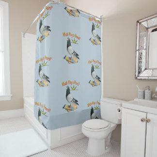 Verlorener Tauben-Spaß-Duschvorhang Duschvorhang