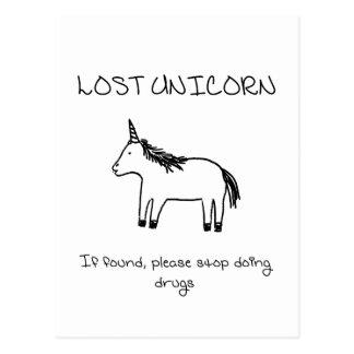 Verlorenes Einhorn Postkarte