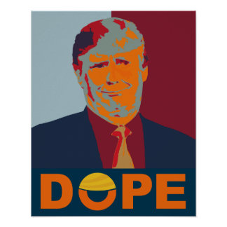 Verlorenes Hoffnung Anti-Trumpf Plakat