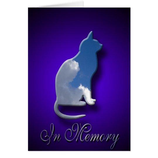Verlust der Katzen-Beileids-Karten-| der Grußkarte