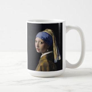 Vermeer Malerei - Mädchen mit einem Perlen-Ohrring Kaffeetasse