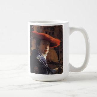 Vermeer Malerei - Mädchen mit Red Hat Kaffeetasse