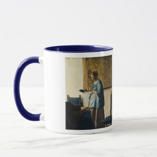 Vermeers Frau im Blau einen Brief ca.1665 lesend Tasse