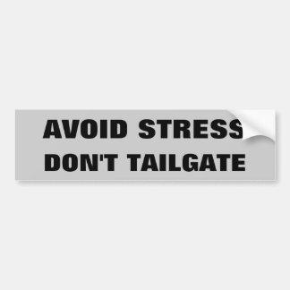 Vermeiden Sie Druck tun nicht Heckklappe Autoaufkleber