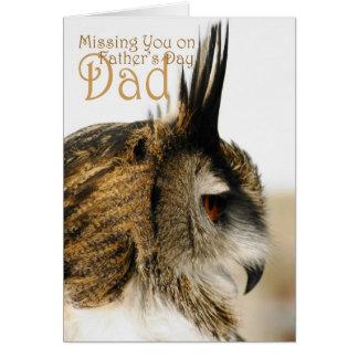 Vermisst reflektieren sich Sie auf Vatertagsvati, Grußkarte