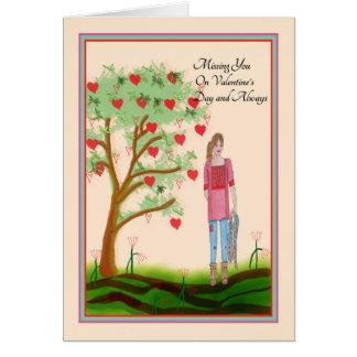 Vermisst Sie auf Karte des Valentines Tages