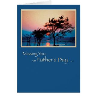 Vermisst Sie, der Vatertag, Bäume im Wasser, mit Karte
