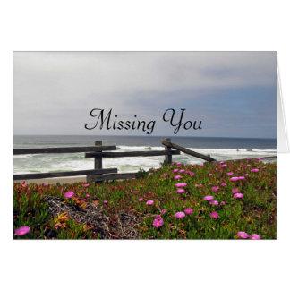 Vermisst Sie Ozean-Blumen-Anmerkungs-Karte Mitteilungskarte
