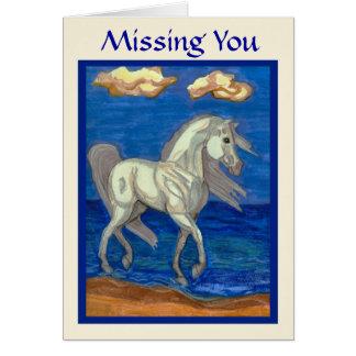 Vermisst Sie Strand-arabische Pferdekarte Karte