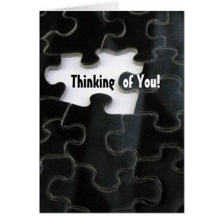 Vermisstes Puzzlespiel-Stück Grußkarte