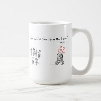 Vermögen und Liebe bevorzugen den Dave Kaffeetasse