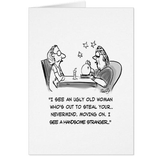 Vermögens-Erzähler-Cartoon Grußkarte