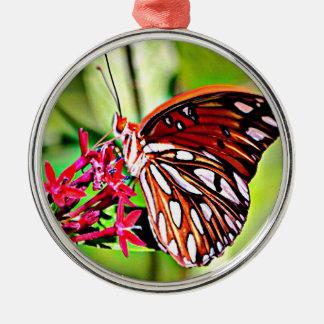 Vermont-Monarchfalter Silbernes Ornament
