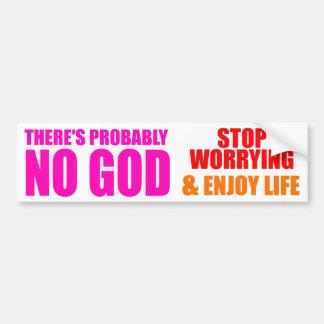 Vermutlich kein Gott Autoaufkleber
