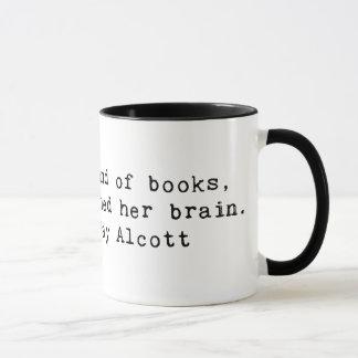 Vernarrt in Bücher Tasse