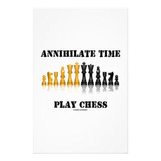 Vernichten Sie Zeit-Spiel-Schach (reflektierendes Briefpapier