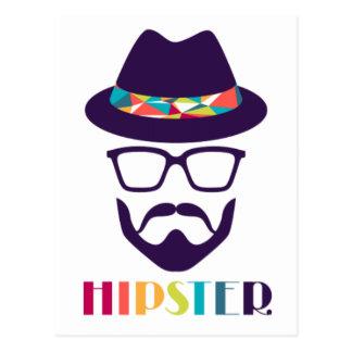 Verres colorés de chapeau de hippie frais carte postale