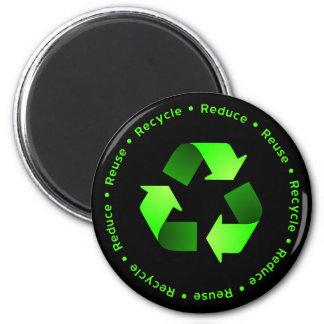 Verringern Sie, verwenden Sie wieder, recyceln Sie Runder Magnet 5,7 Cm