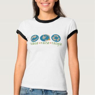 Verringern Sie, verwenden Sie wieder, recyceln Sie T-Shirt