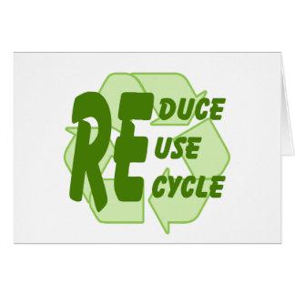 Verringern Sie Wiederverwendung recyceln 2 Karte