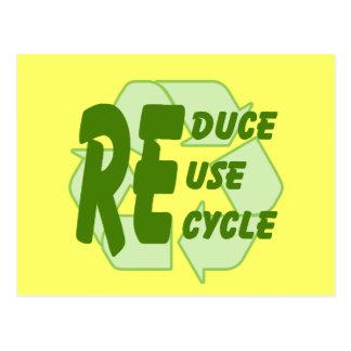 Verringern Sie Wiederverwendung recyceln 2 Postkarte