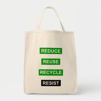 Verringern Sie Wiederverwendung recyceln Einkaufstasche