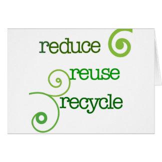 Verringern Sie Wiederverwendung recyceln Karte