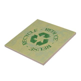 Verringern Sie Wiederverwendung recyceln Keramikfliese