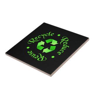 Verringern Sie Wiederverwendung recyceln Kleine Quadratische Fliese