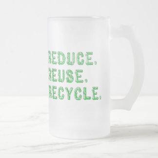 Verringern Sie Wiederverwendung recyceln Mattglas Bierglas