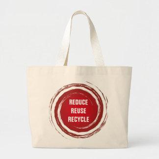 Verringern Sie Wiederverwendung recyceln rote Jumbo Stoffbeutel