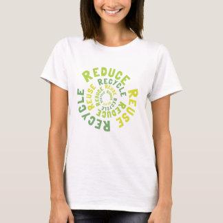 Verringern Sie, Wiederverwendung recyceln T-Shirt