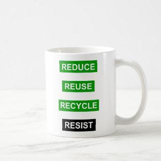 Verringern Sie Wiederverwendung recyceln Tasse