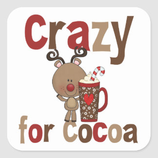 Verrückt für Kakao Quadratischer Aufkleber