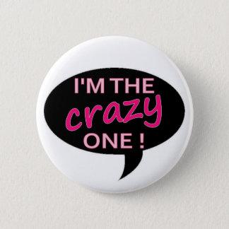 verrückt runder button 5,7 cm
