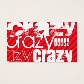 Verrückt; Scharlachrot Rot-Streifen- Visitenkarte