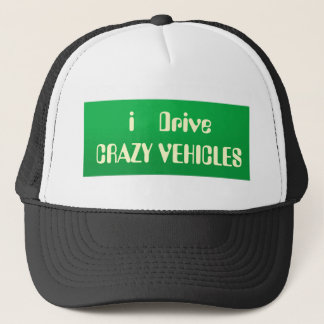 VERRÜCKT über TEXT Slogans Truckerkappe