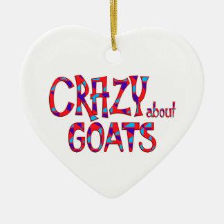 Verrückt über Ziegen Keramik Ornament