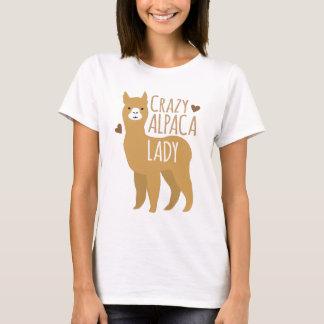 Verrückte Alpakadame T-Shirt