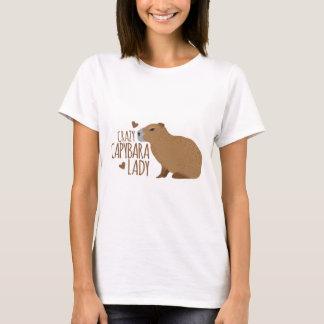 verrückte Capybaradame T-Shirt