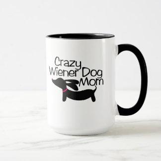 Verrückte Dackel-Hundemamma-Wecker-Kaffee-Tasse Tasse