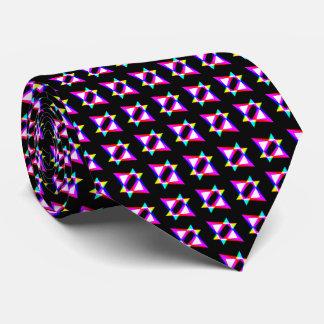 Verrückte Dreieck-schwarzer Hintergrund Personalisierte Krawatte