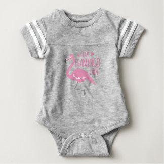Verrückte Flamingodame Baby Strampler